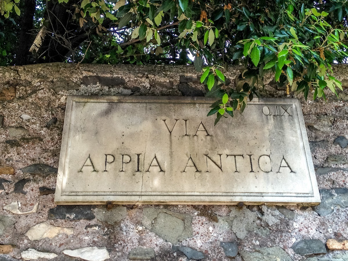 Sign reading Via Appia Antica