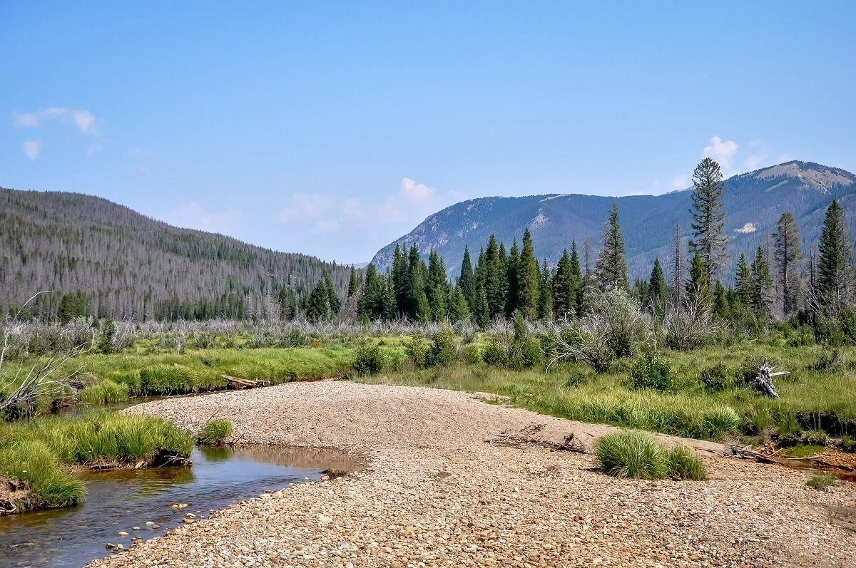 The headwaters of the Colorado River in Rocky Mountain National Park