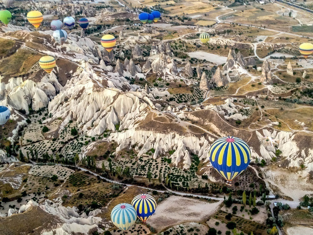 Balloons over the valleys of Goreme