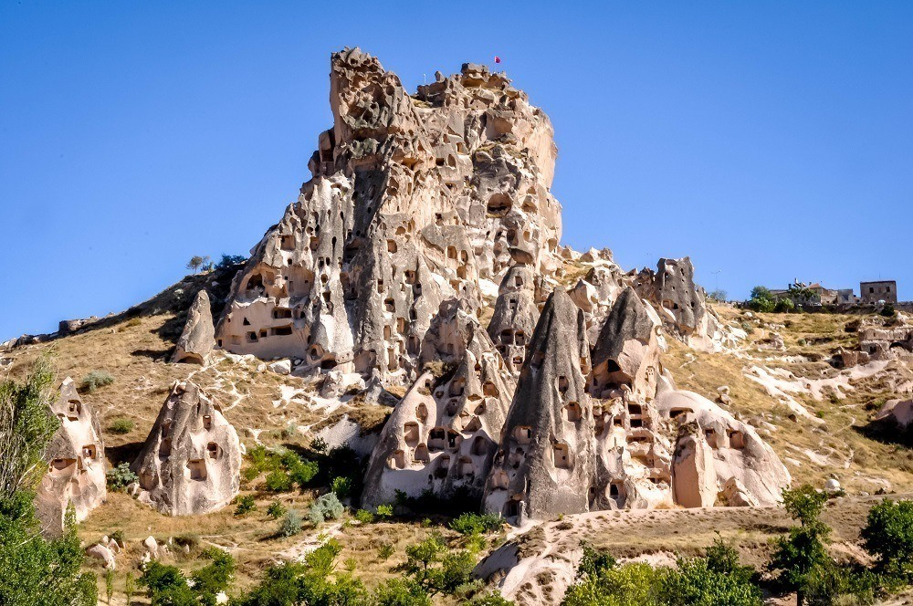 The rock formation of the Uchisar Castle