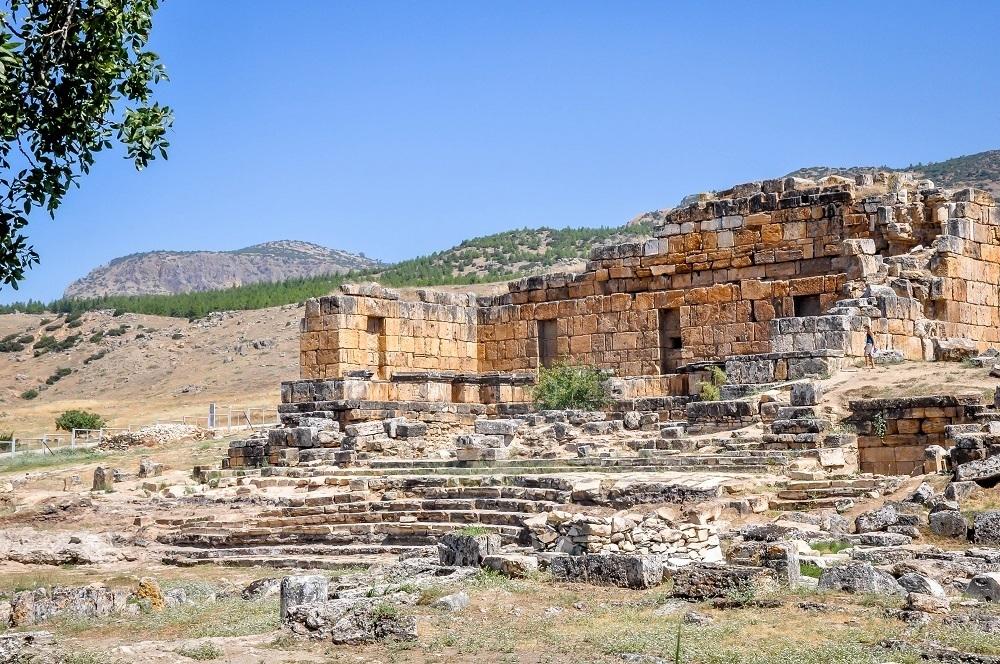 Ruins of a building in Hieropolis Turkey