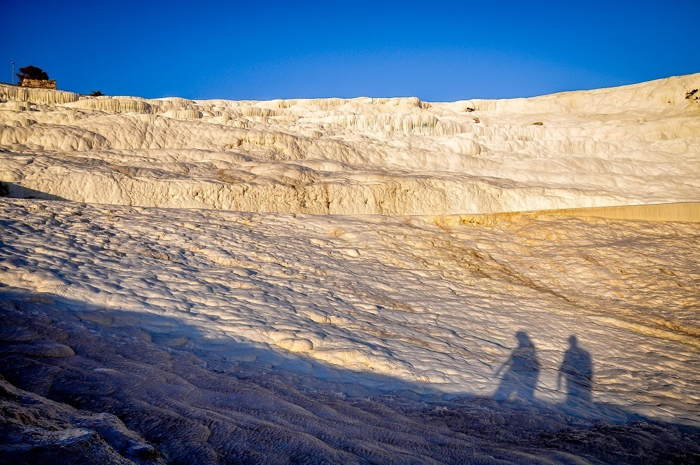 Our shadow on the Cotton Castle formations