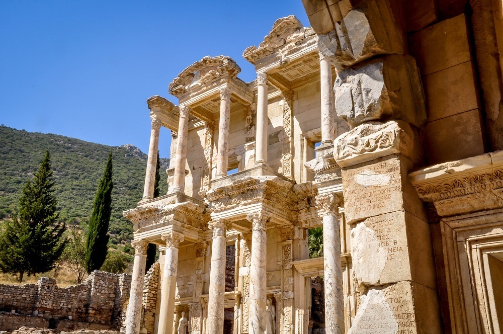Ruins Of Ephesus And Travertines Of Pamukkale Turkey