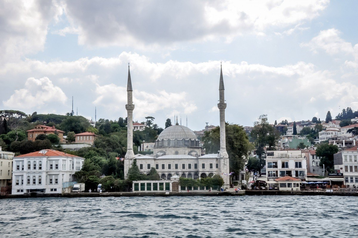 A mosque at the end of the water