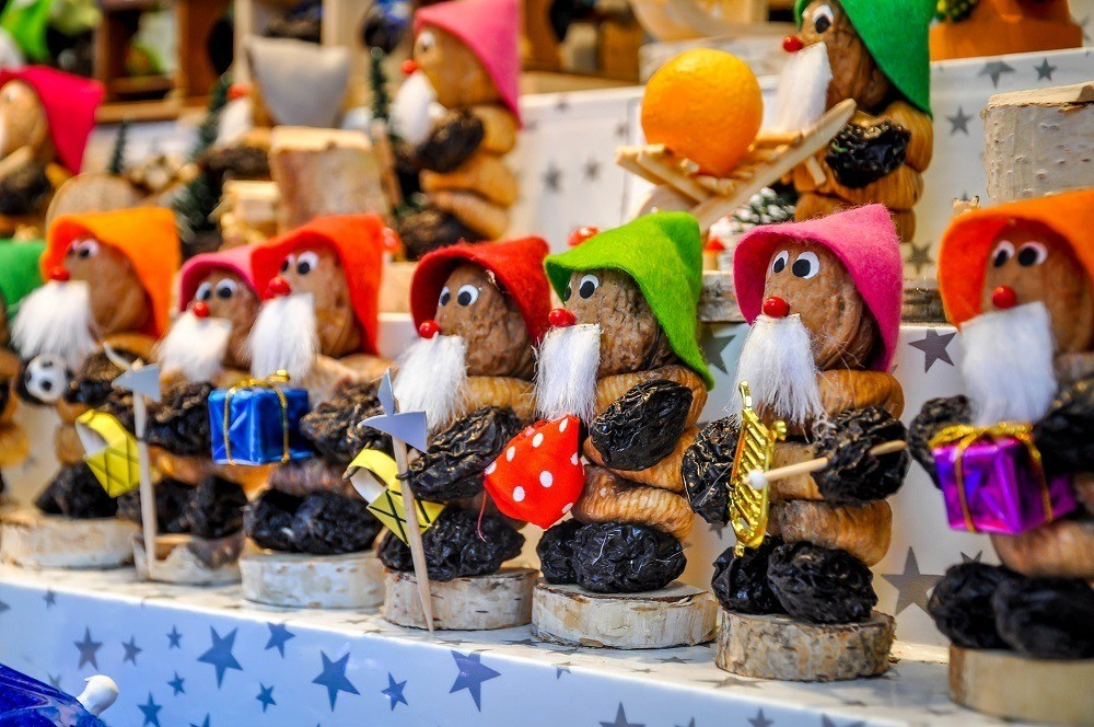 Figures made of prunes and dates for sale