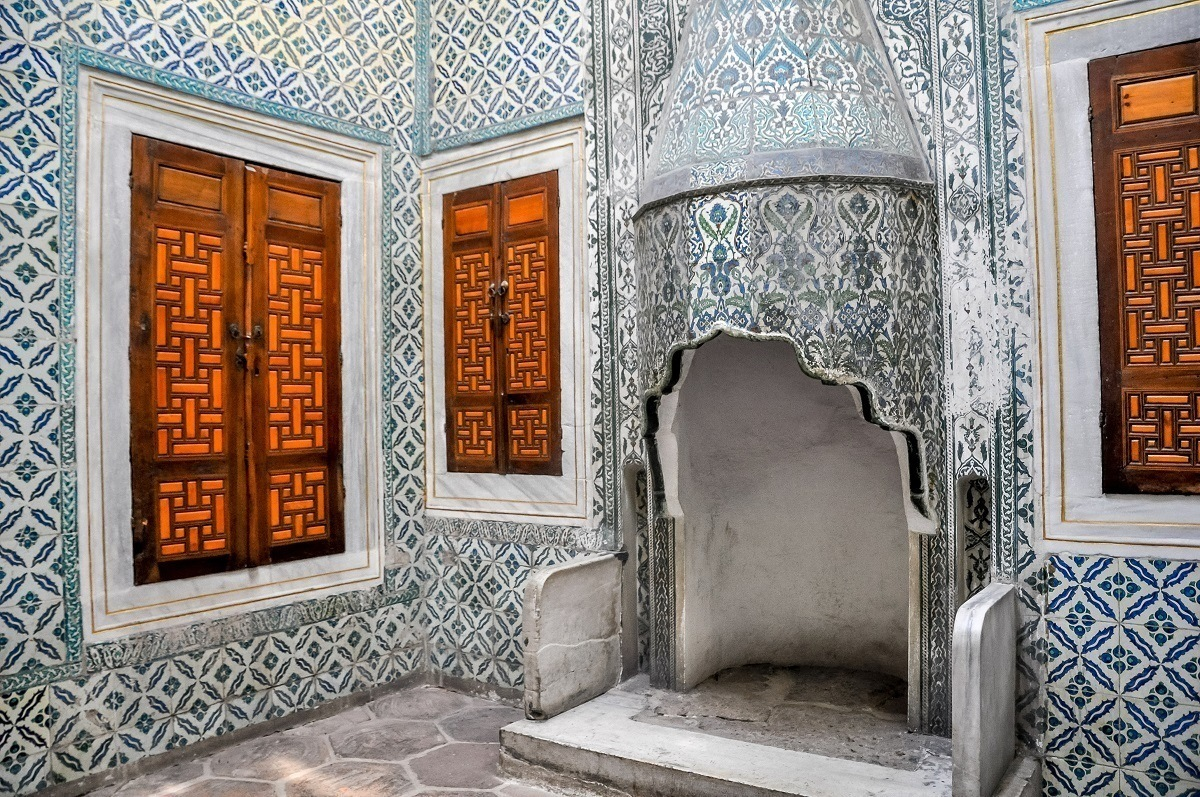 Inside the harem of the Topkapi Palace Museum in Istanbul