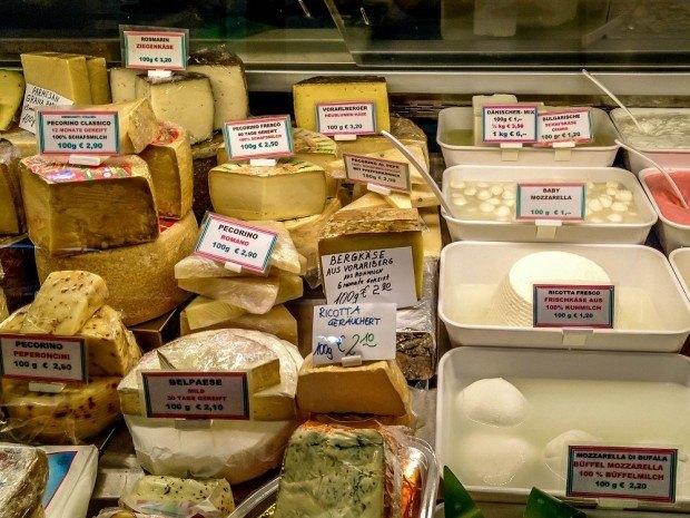 Cheese at Vienna's Naschmarkt, Travel Addicts