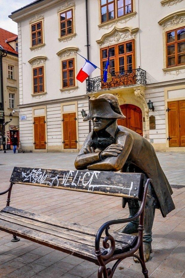 Napoleon statue in Bratislava