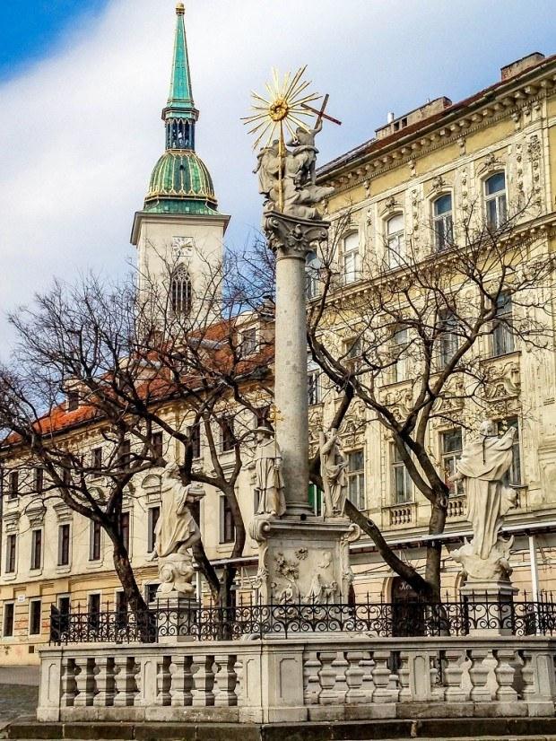 Statue on the streets of Bratislava