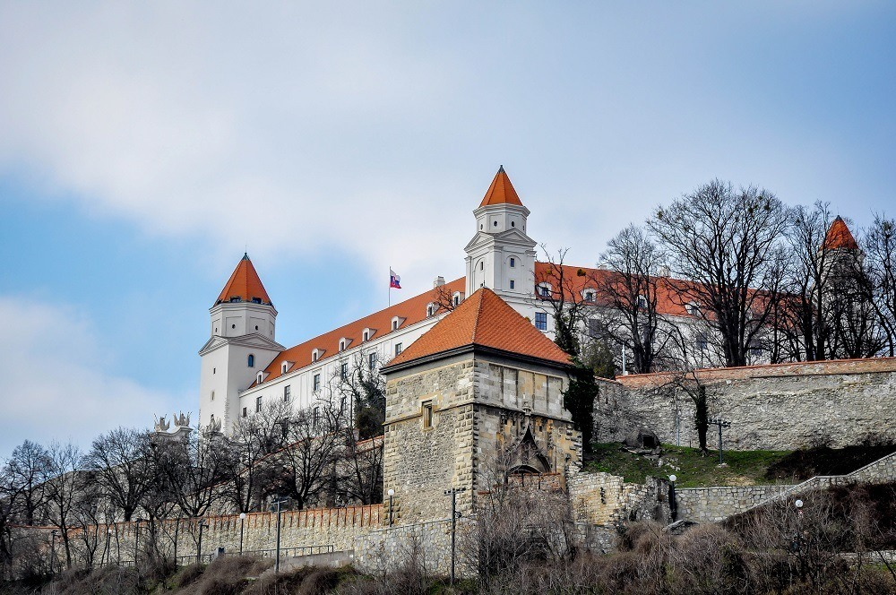 Bratislava Castle on the hill in Slovakia