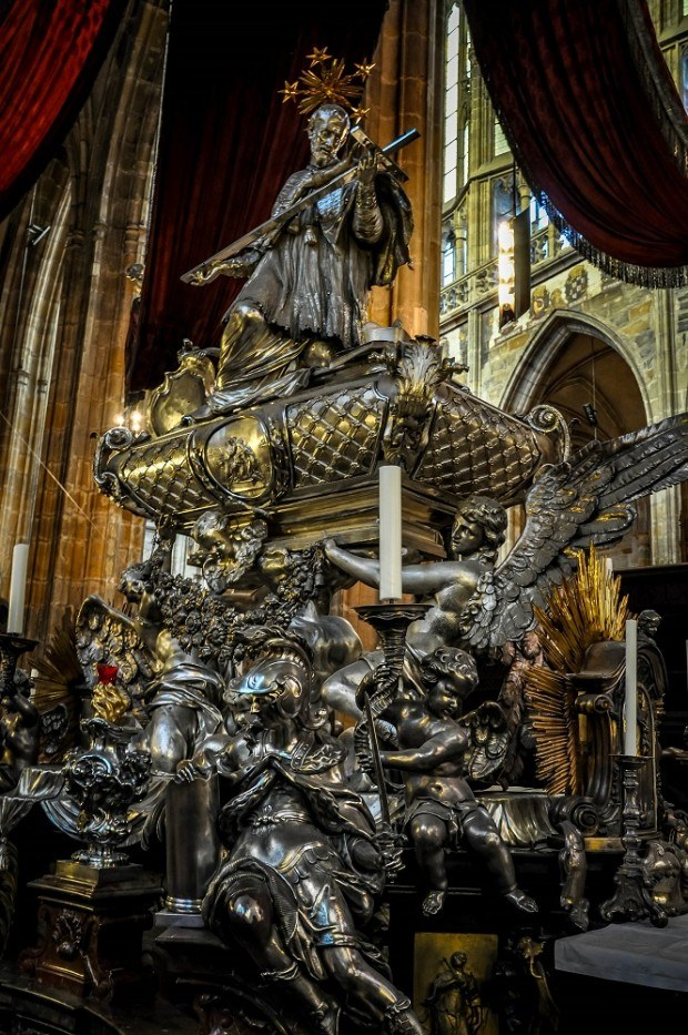 Tomb of St. John Nepomuk in the Prague castle cathedral