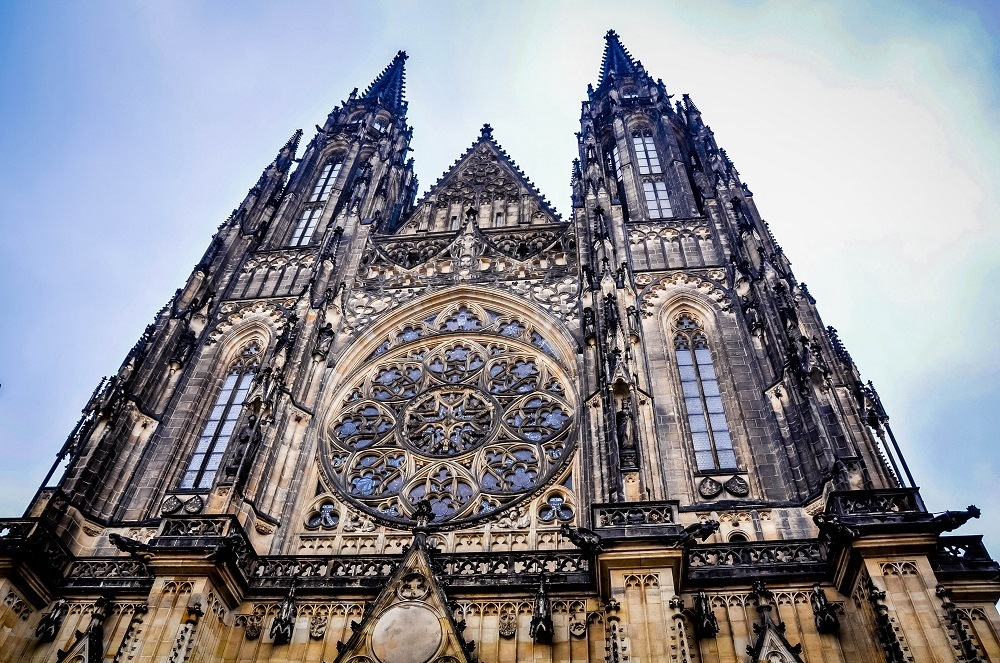 The Prague castle cathedral, in the worlds largest castle