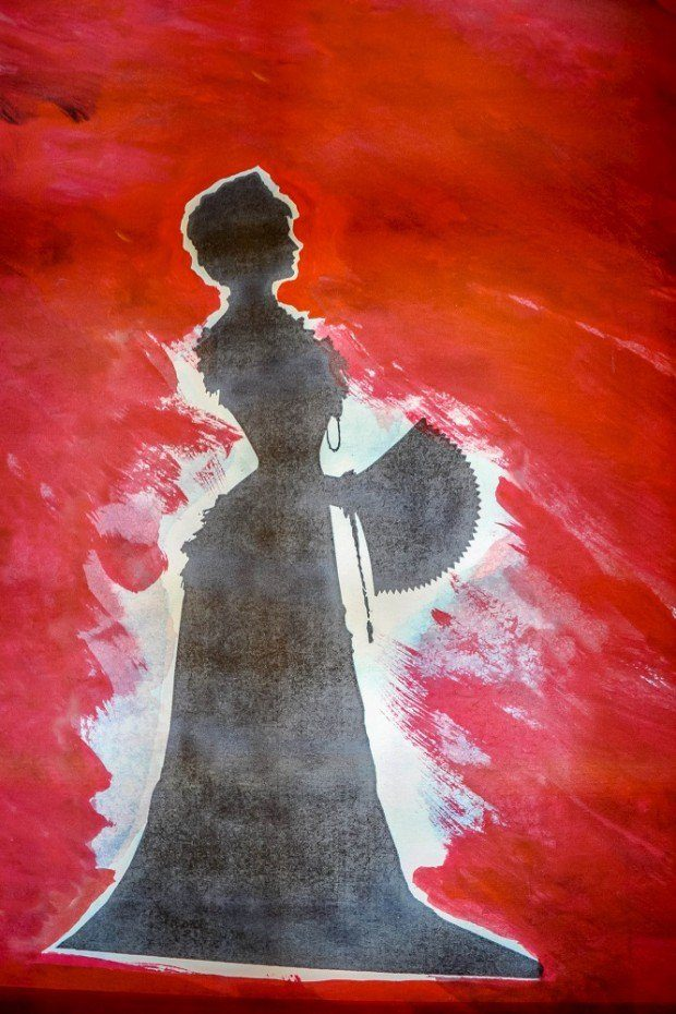 Silhouette of Empress Elisabeth of Austria (Sisi) at the museum dedicated to her