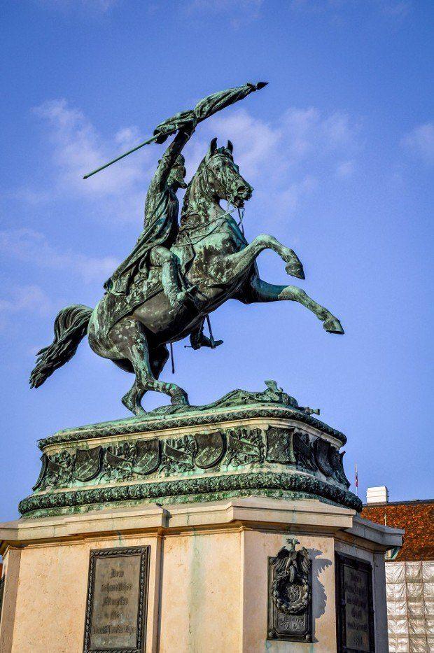 Statue at the Hofburg Palace