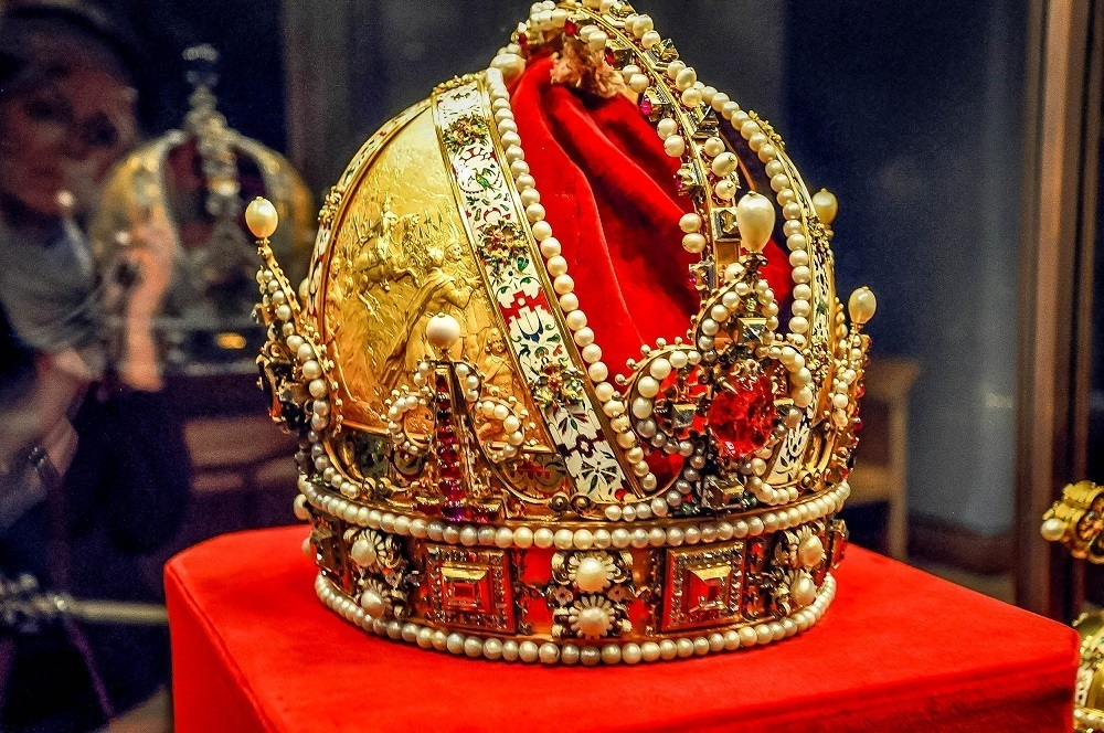 The Imperial Crown of Austria and Habsburg family jewels at Vienna's Hofburg Palace