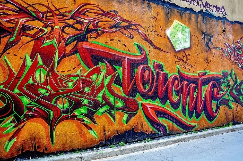 """Toronto"" street art mural"