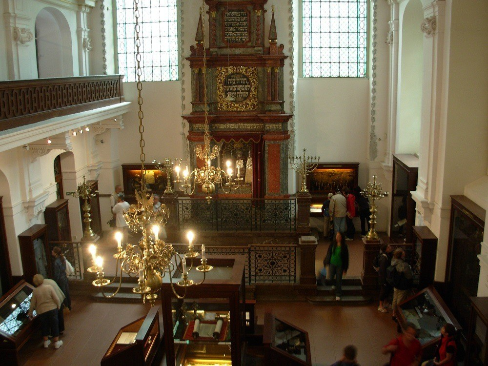 Inside the Klausen Synagogue Museum