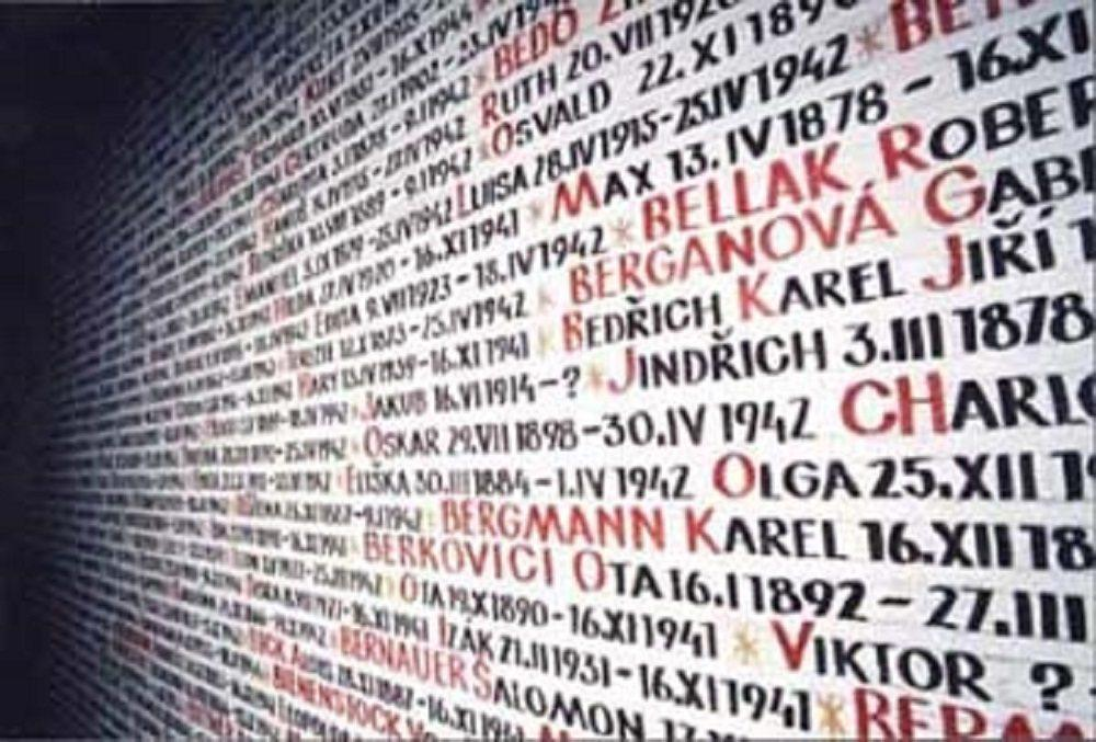 The Wall of Names in the Pinkas Synagogue