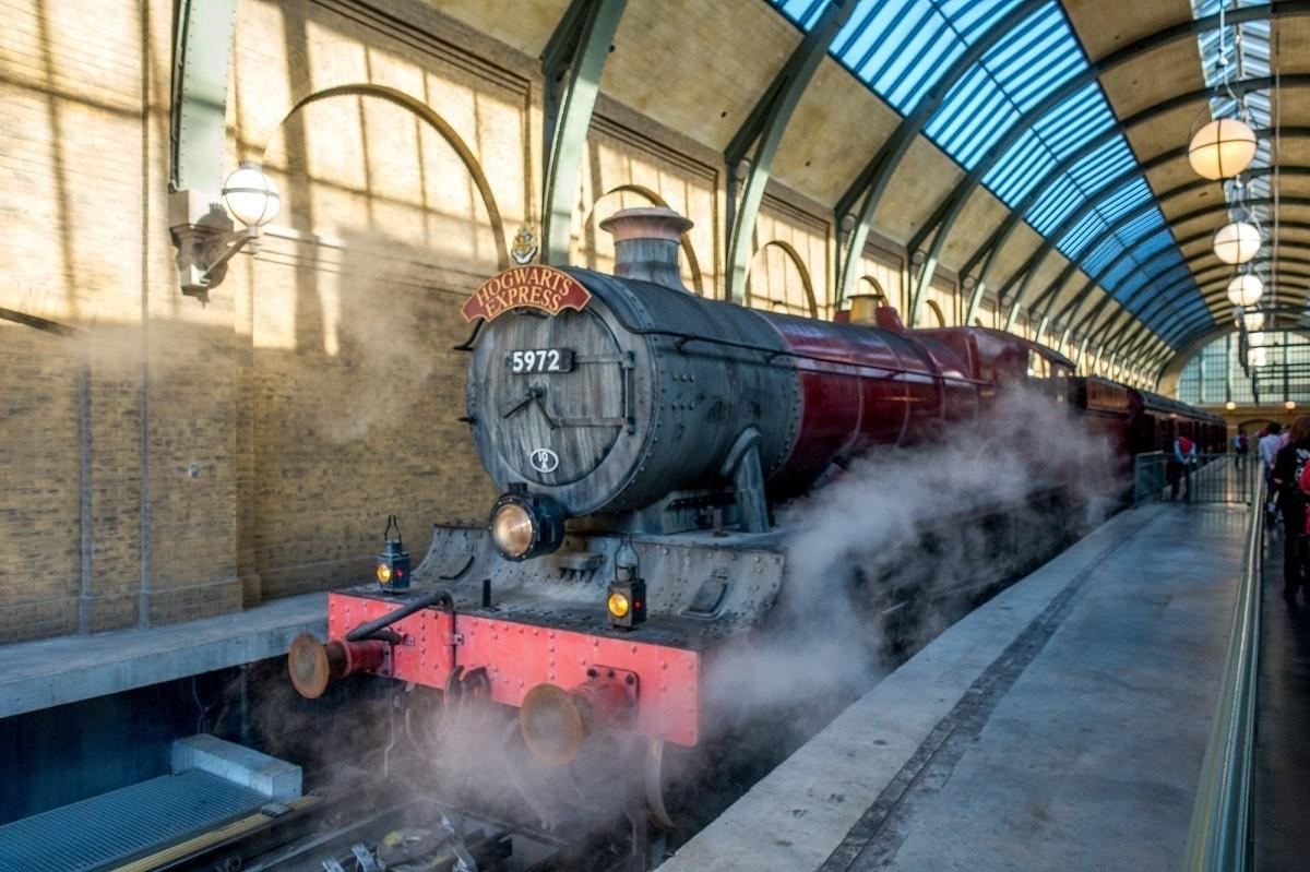 The Hogwarts Express train