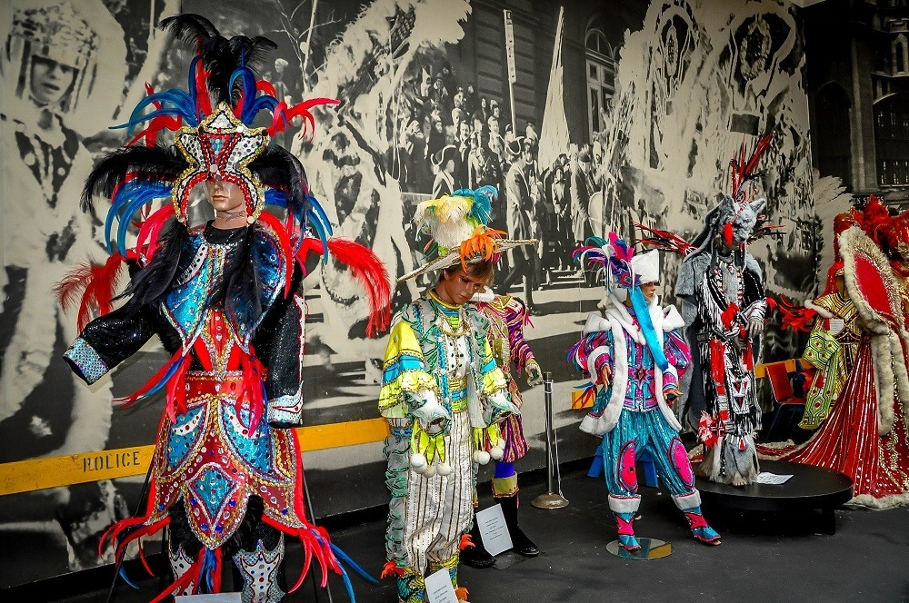 The unique mummers costumes are on display at the Mummers Museum
