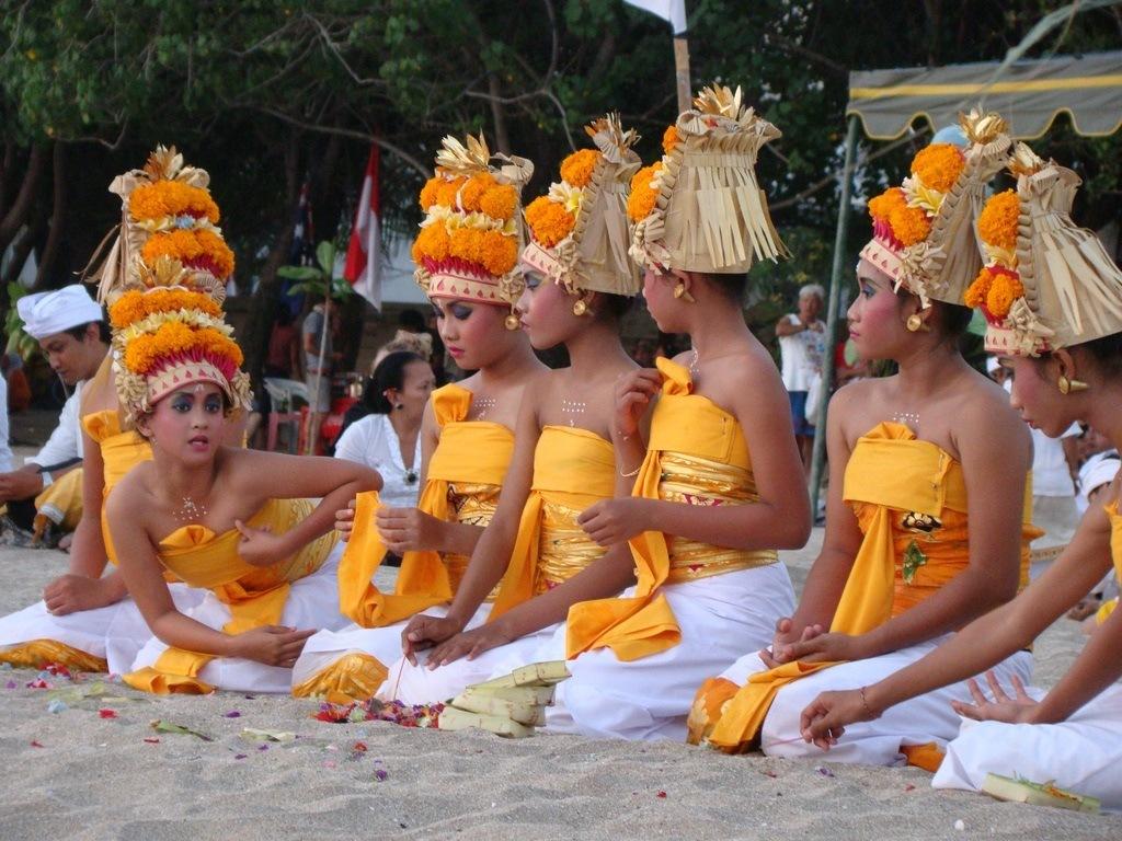 Ceremony for Tourists in Kuta, Bali