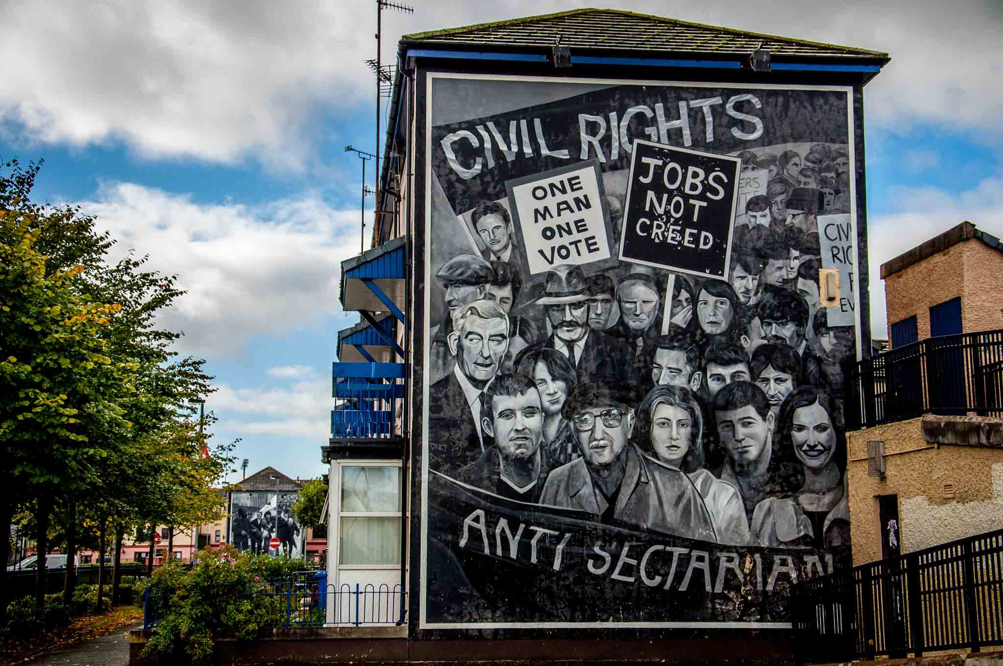 Civil rights leaders mural in Derry Northern Ireland