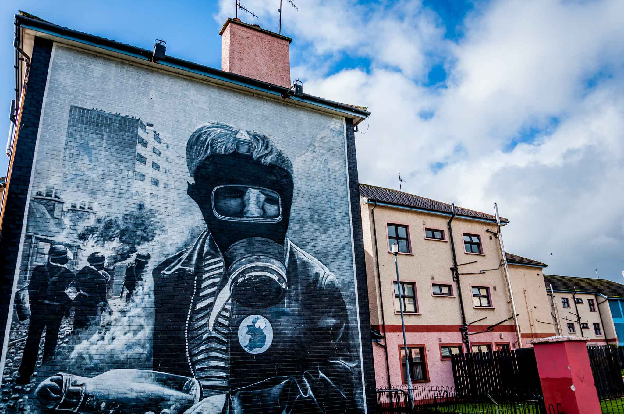 One of the Bloody Sunday Derry murals in Northern Ireland