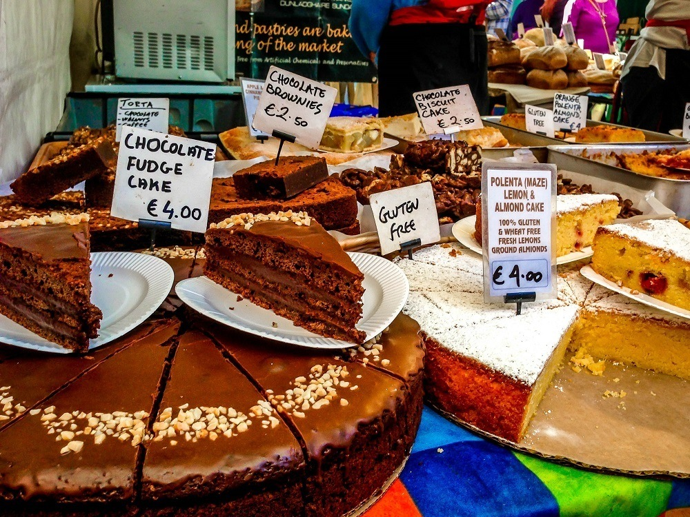 Pastries and cakes for sale