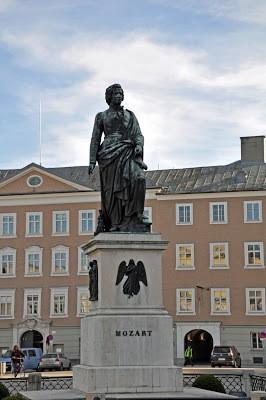 Statue of Mozart in Salzburg, Austria