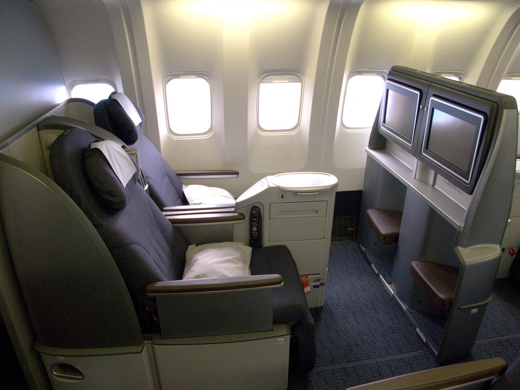 First class seats on a plane