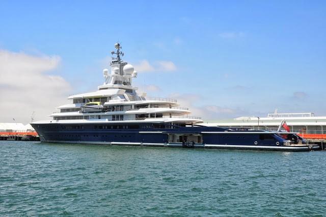 Roman Abramovich's Motor Yacht Luna (M/Y Luna) in the harbor