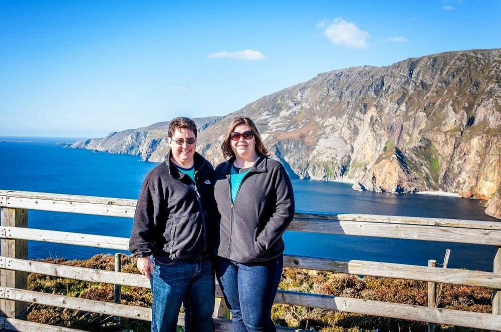 Lance and Laura in County Donegal at the Slieve League Cliffs