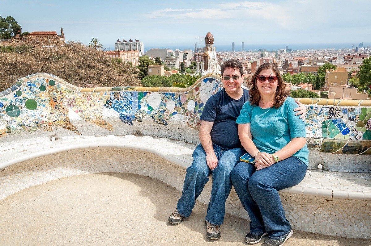 Visiting Park Guell in Barcelona, Spain