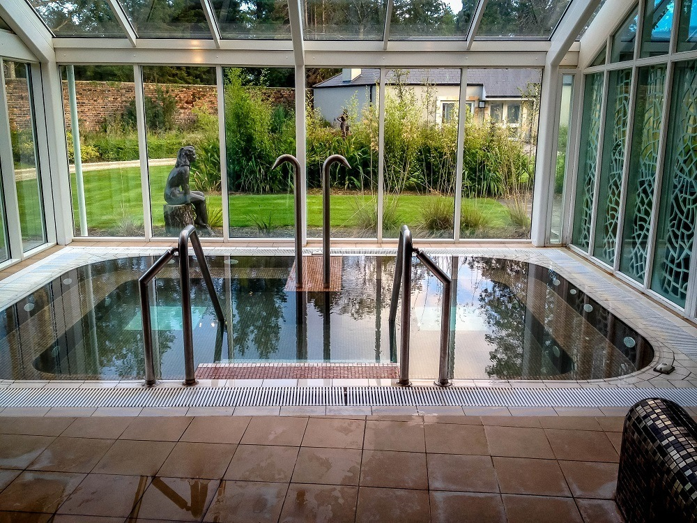 The whirlpool at Spa Solis at the Lough Eske Castle Hotel Donegal