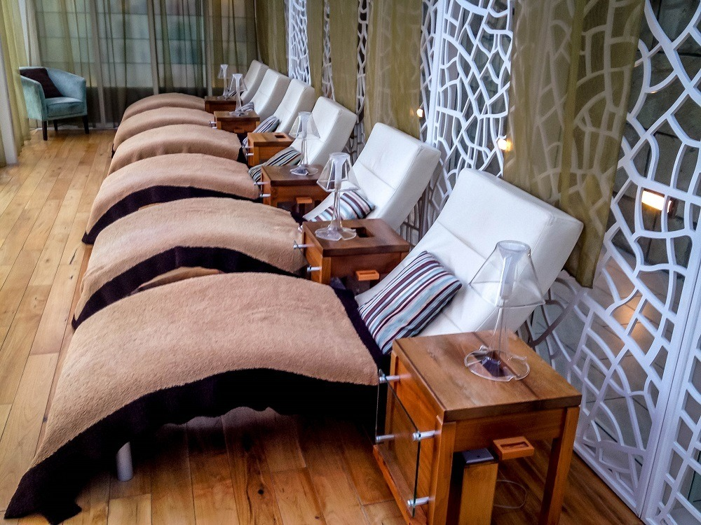 Sitting Room at the spa at Lough Eske Castle Hotel in Donegal