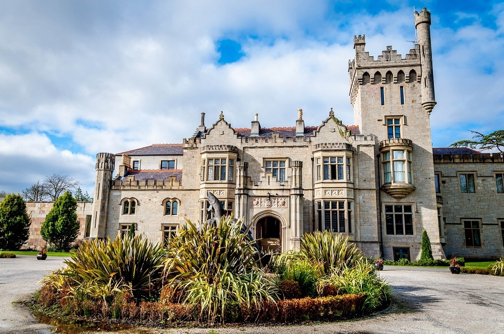 The entry to the Solis Lough Eske Castle Hotel in Donegal