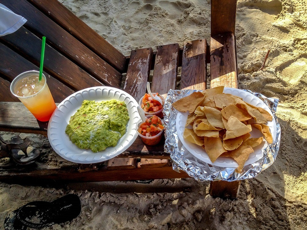 Beverages and snacks at Chankanaab National Park.  All of the Chankanaab Park reviews we'd read mentioned how great the food is here, and we'd agree.