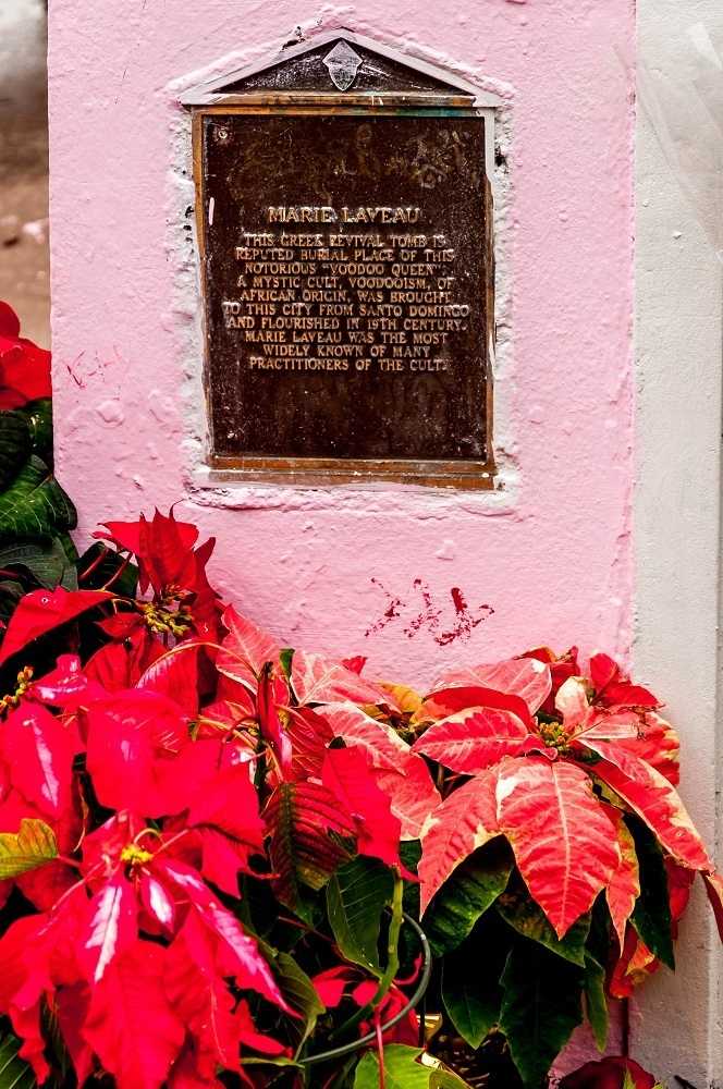 Plaque for the Tomb of New Orleans Voodoo Queen Marie Laveau