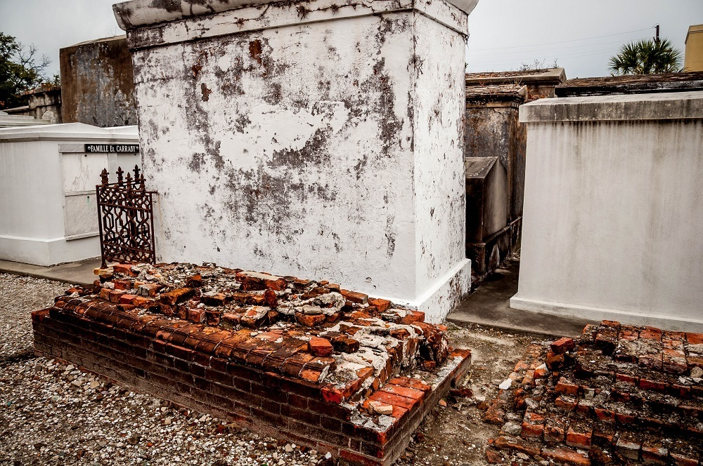 The Above Ground Tombs in St Louis Cemetery 1