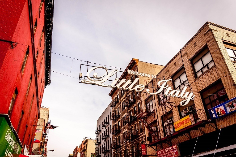 Welcome to Little Italy sign at Canal Street