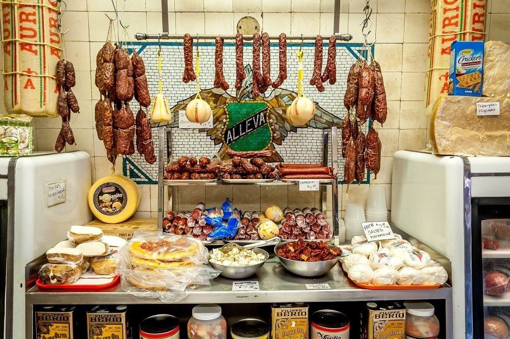 Cheeses and Meats from Italy on a New York food tour