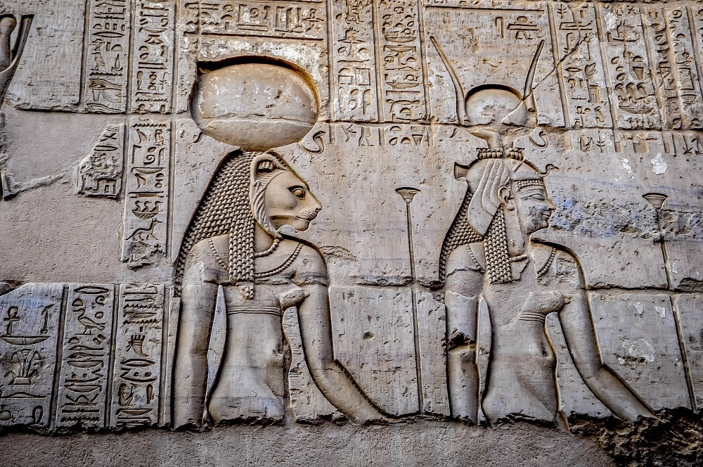 Reliefs at Kom Ombo in Egypt