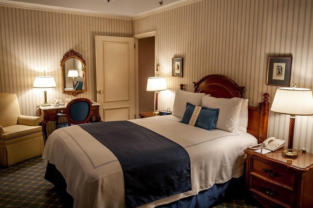 Bedroom in the Hotel Elysee in New York City