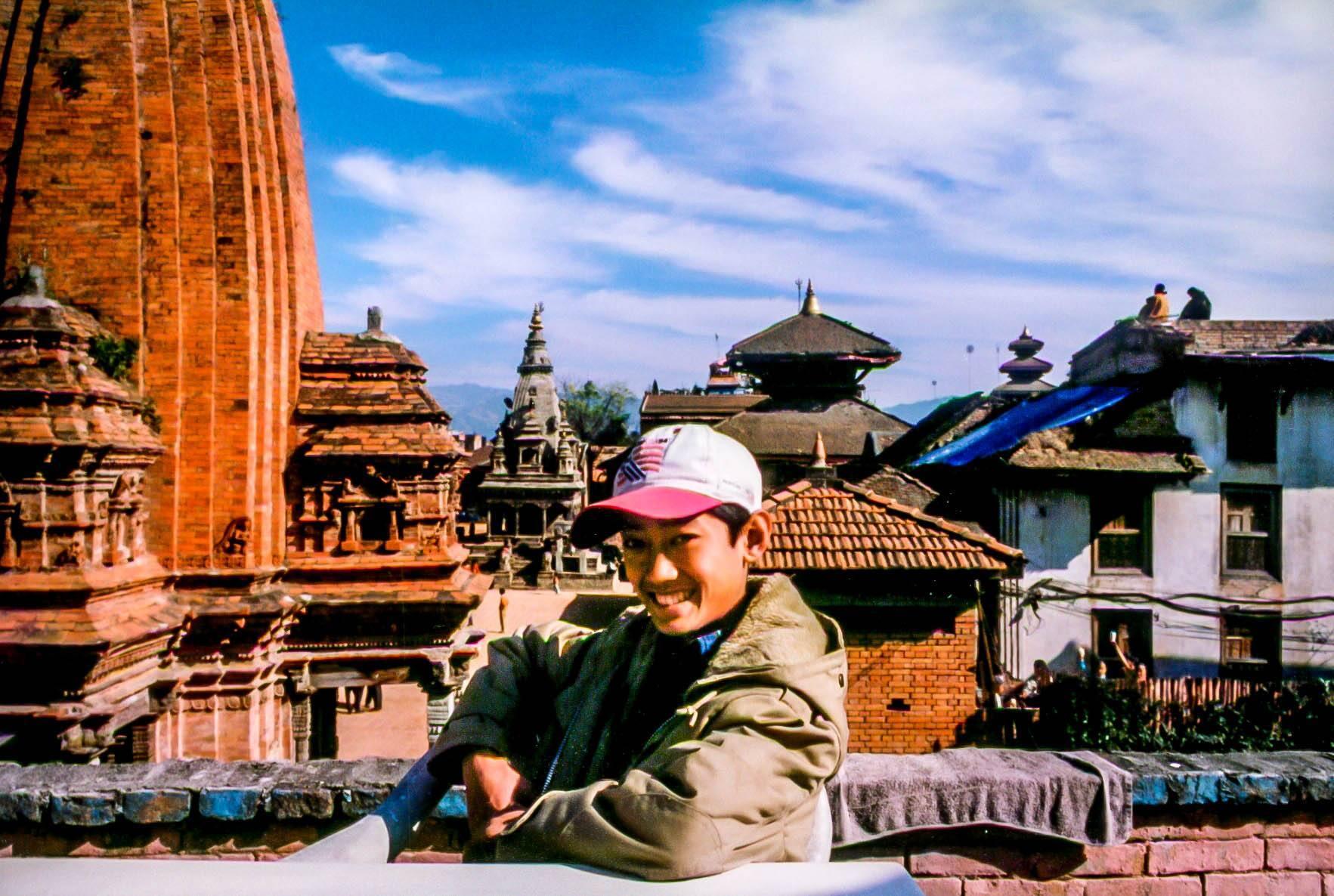 Boy in Bhaktapur's Durbar Square