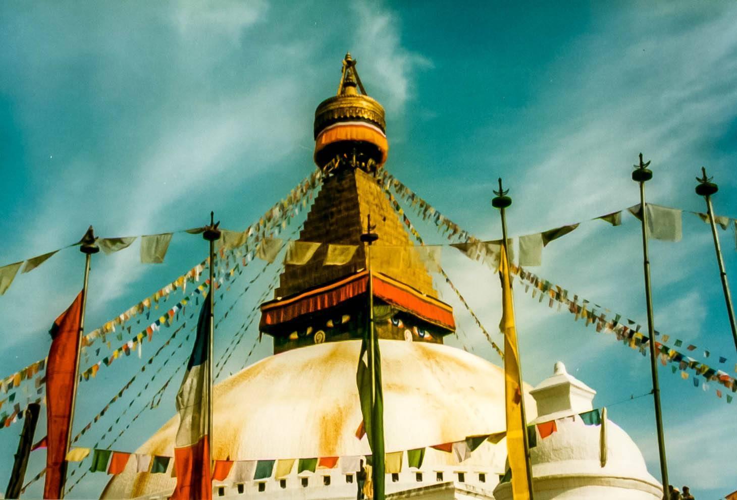 The Boudhanath Stupa in Kathmandu
