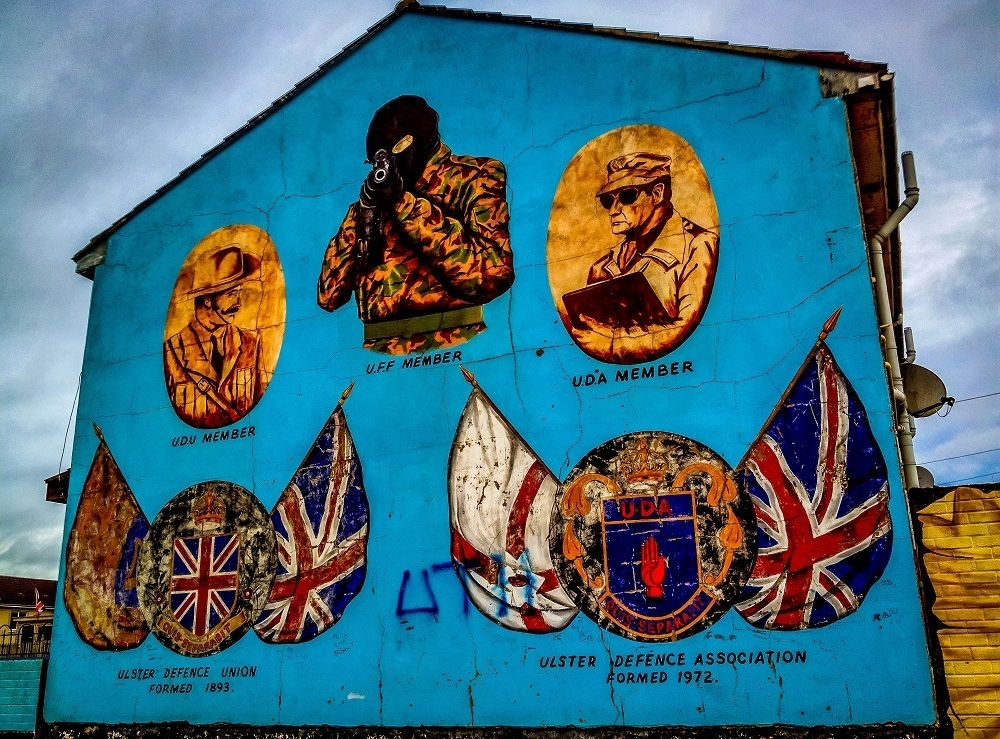 Loyalist sniper, one of the most famous Belfast murals