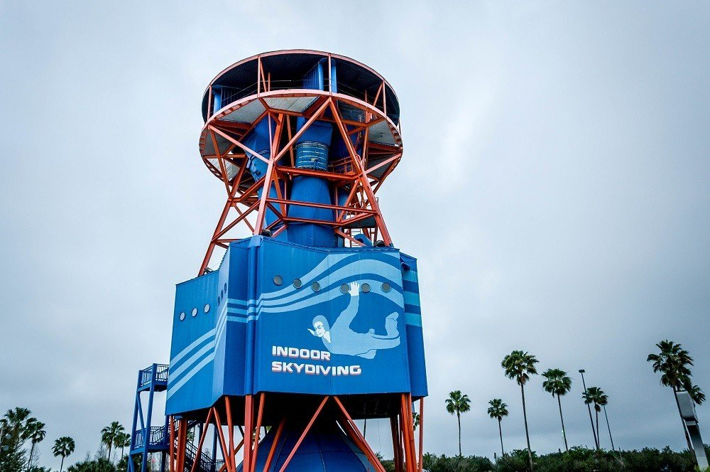 iFly indoor skydiving tower