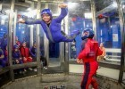 Indoor skydiving at iFLY in Orlando, Florida.