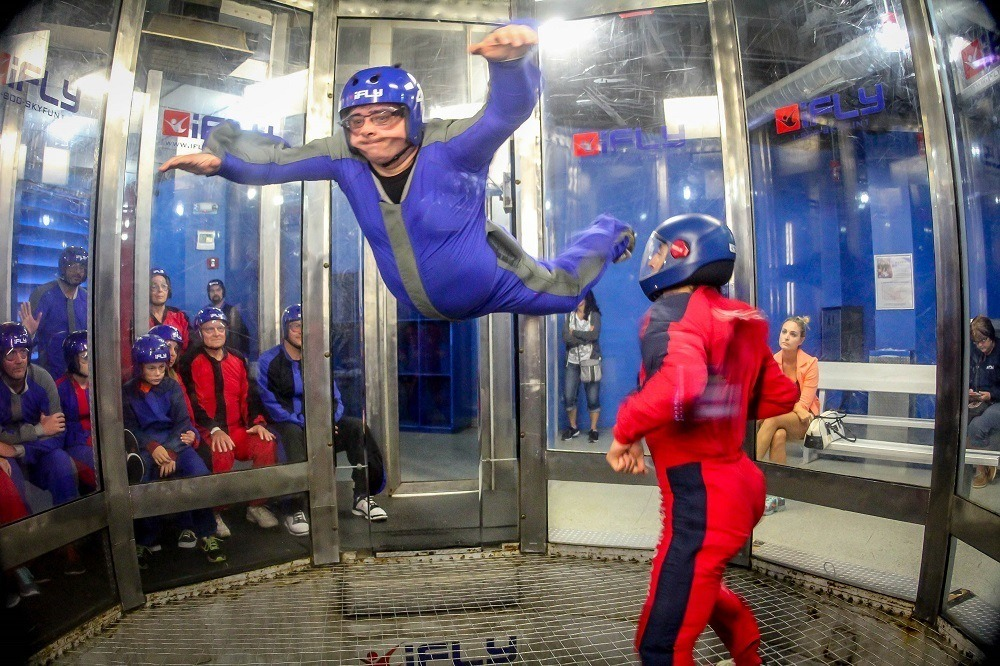 Lance indoor skydiving at iFLY is one of the best Orlando indoor activities for adults