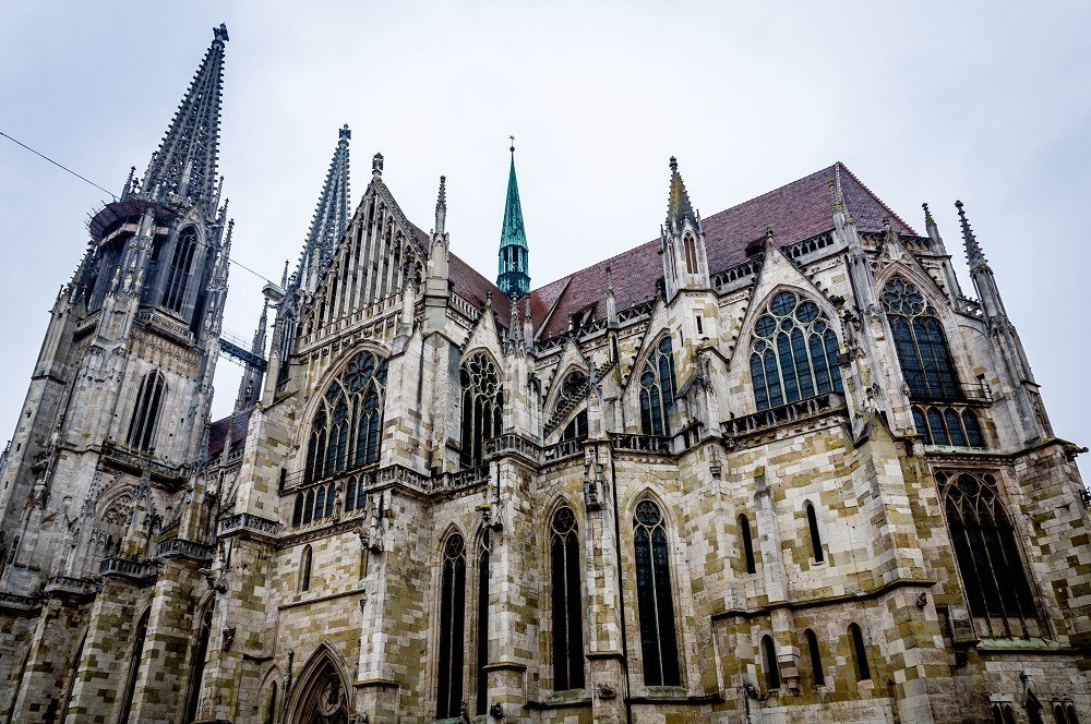 The exterior of St. Peter's Cathedral Regensburg